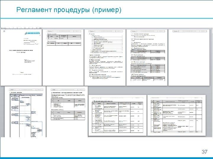 Регламент процедуры (пример) 37