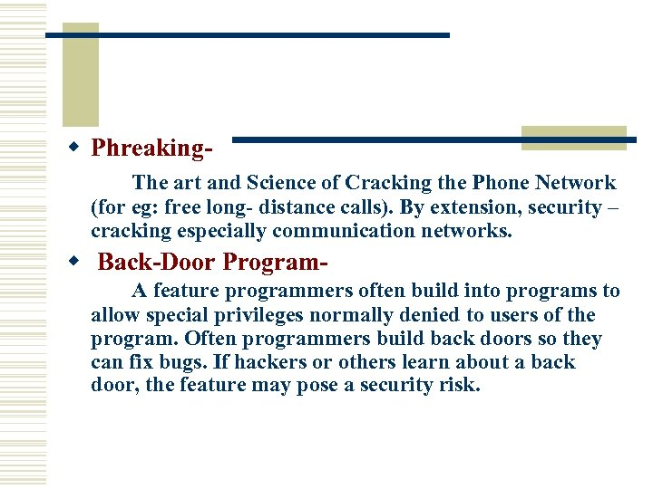 w Phreaking. The art and Science of Cracking the Phone Network (for eg: free