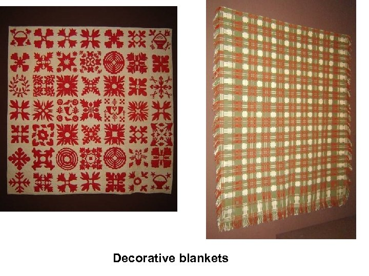 Decorative blankets