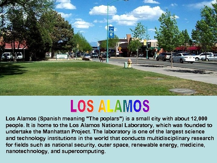 Los Alamos (Spanish meaning