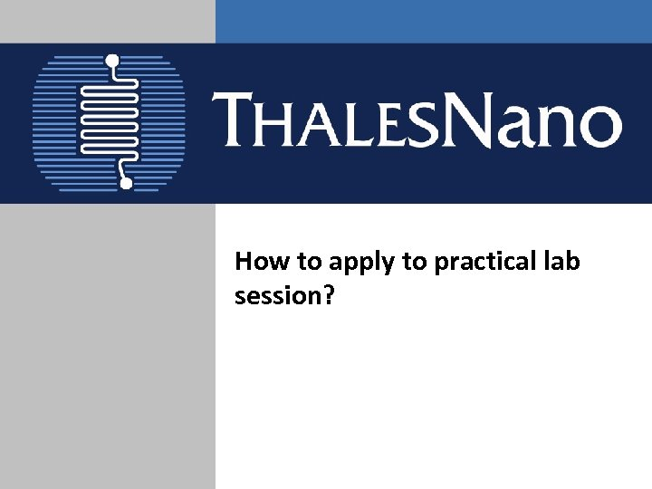 How to apply to practical lab session?
