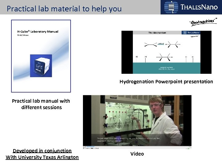 Practical lab material to help you Hydrogenation Powerpoint presentation Practical lab manual with different