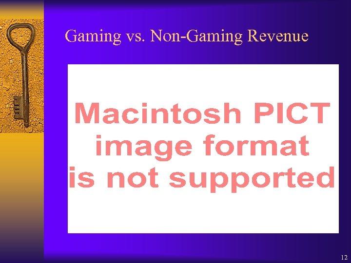 Gaming vs. Non-Gaming Revenue 12