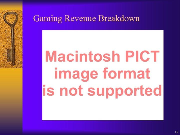 Gaming Revenue Breakdown 18