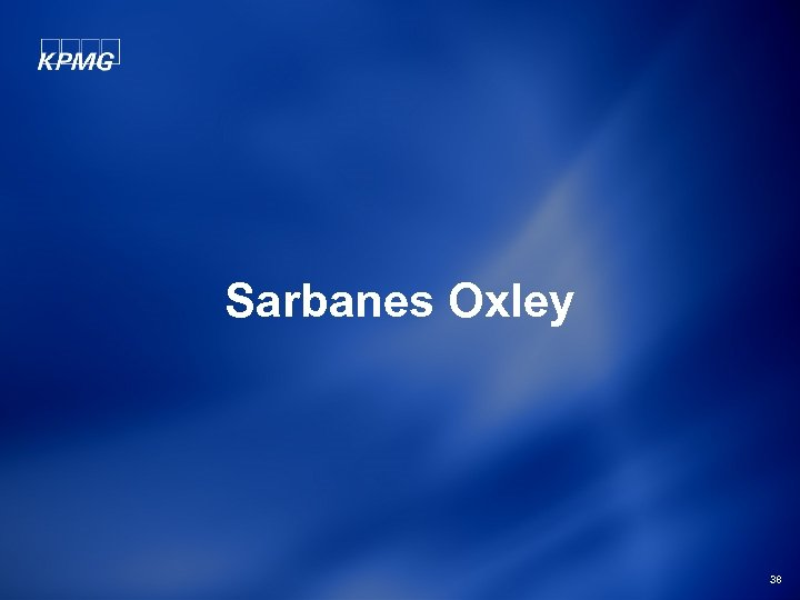 Sarbanes Oxley 38