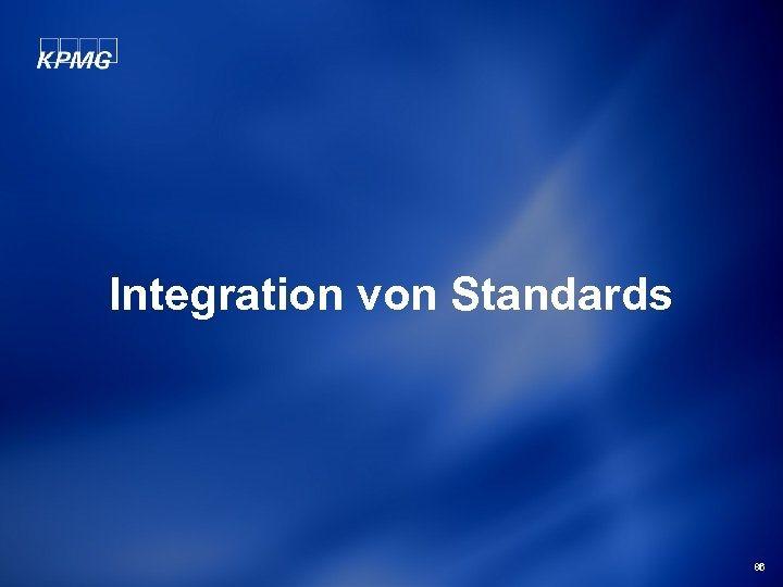 Integration von Standards 86
