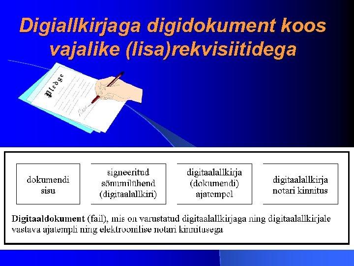 Digiallkirjaga digidokument koos vajalike (lisa)rekvisiitidega
