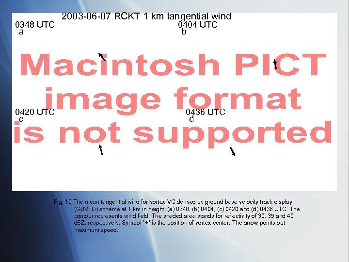 0348 UTC a 0420 UTC c 2003 -06 -07 RCKT 1 km tangential wind