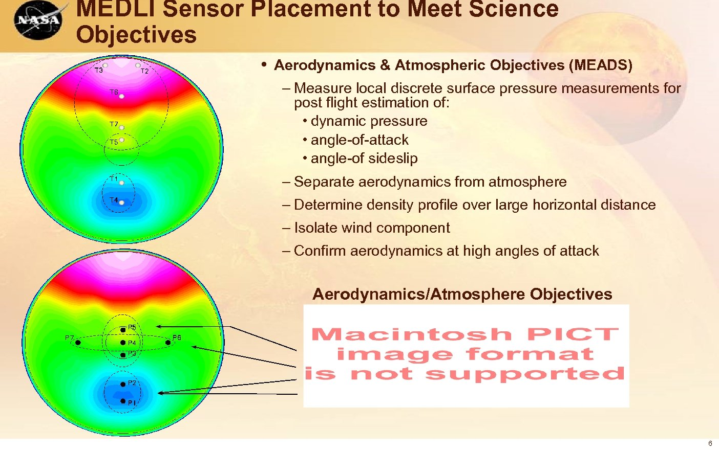 MEDLI Sensor Placement to Meet Science Objectives • Aerodynamics & Atmospheric Objectives (MEADS) –