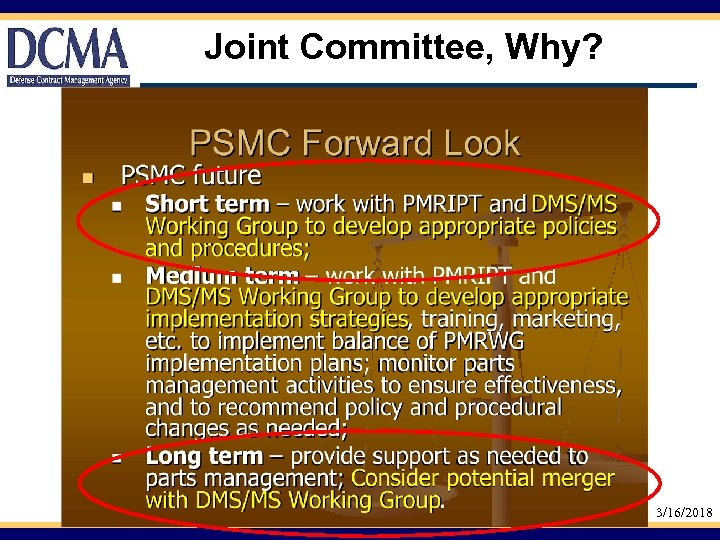 Joint Committee, Why? 3/16/2018