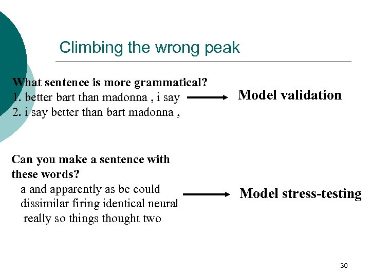 Climbing the wrong peak What sentence is more grammatical? 1. better bart than madonna