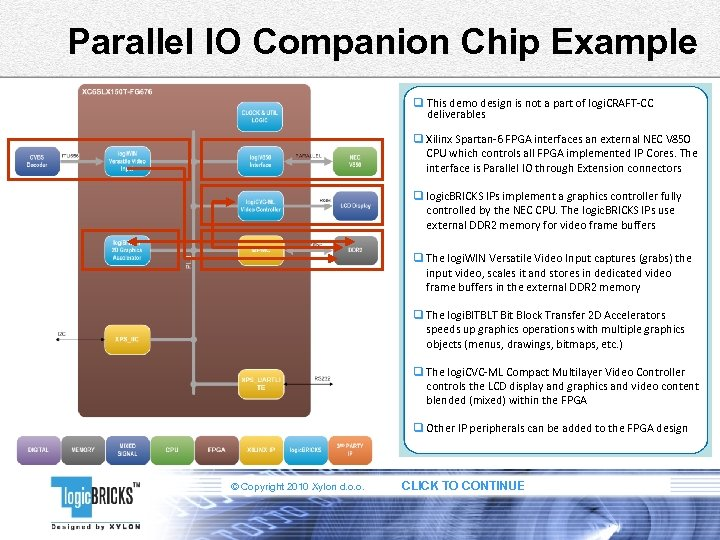 Parallel IO Companion Chip Example q This demo design is not a part of