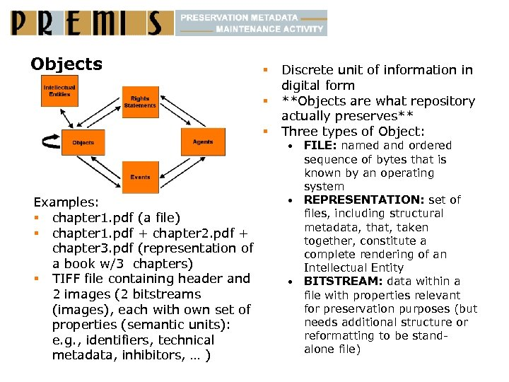 Objects § § § Discrete unit of information in digital form **Objects are what