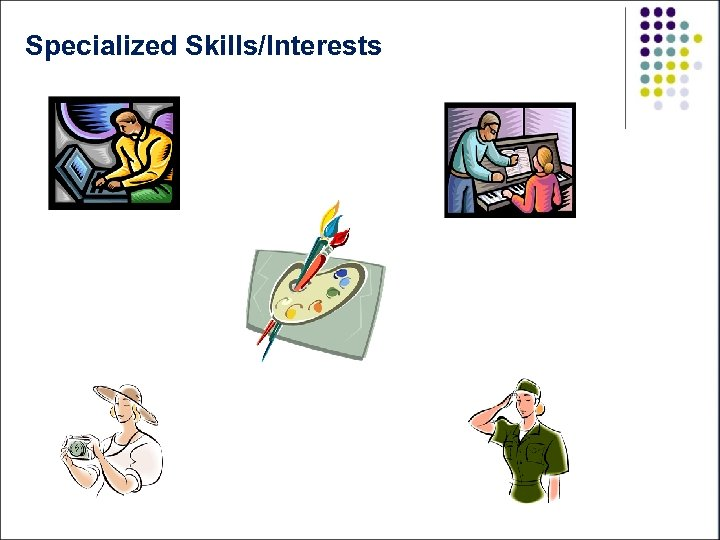 Specialized Skills/Interests