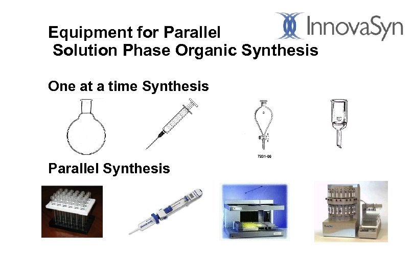 Equipment for Parallel Solution Phase Organic Synthesis One at a time Synthesis Parallel Synthesis