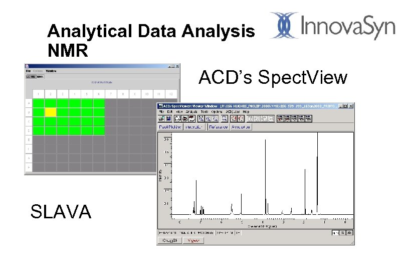 Analytical Data Analysis NMR ACD's Spect. View SLAVA