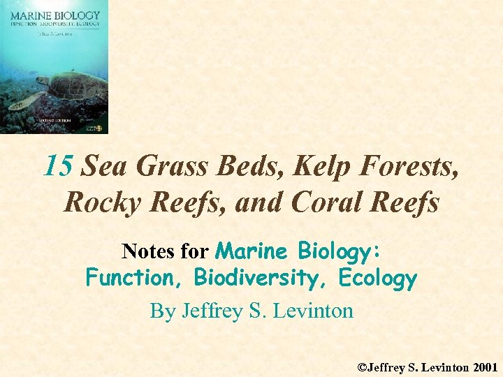 15 Sea Grass Beds, Kelp Forests, Rocky Reefs, and Coral Reefs Notes for Marine