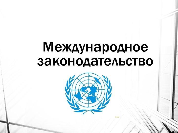 Международное законодательство