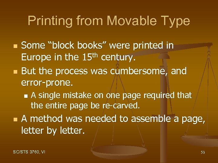 """Printing from Movable Type n n Some """"block books"""" were printed in Europe in"""