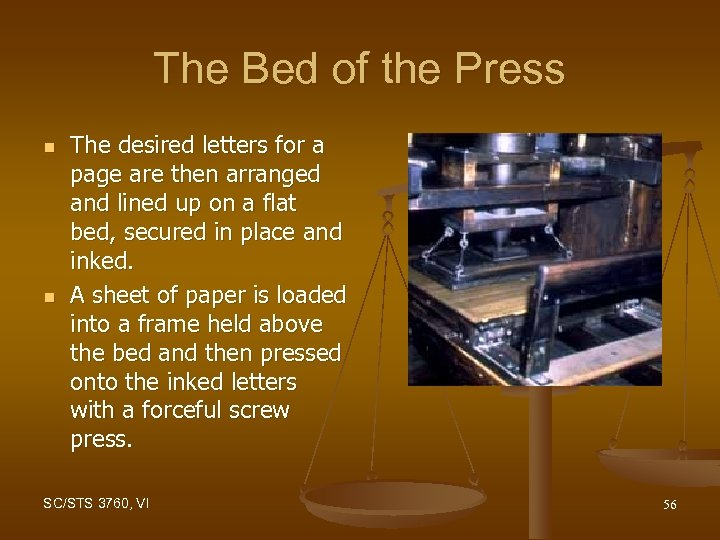 The Bed of the Press n n The desired letters for a page are