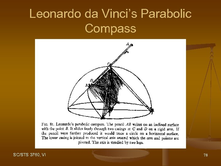Leonardo da Vinci's Parabolic Compass SC/STS 3760, VI 78