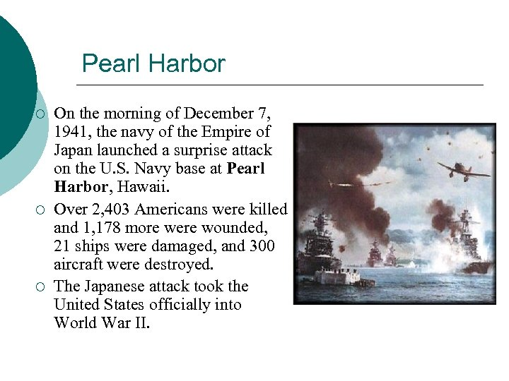 Pearl Harbor ¡ ¡ ¡ On the morning of December 7, 1941, the navy