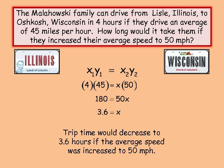 The Malahowski family can drive from Lisle, Illinois, to Oshkosh, Wisconsin in 4 hours