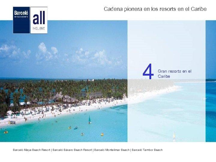 Cadena pionera en los resorts en el Caribe 4 Gran resorts en el Caribe