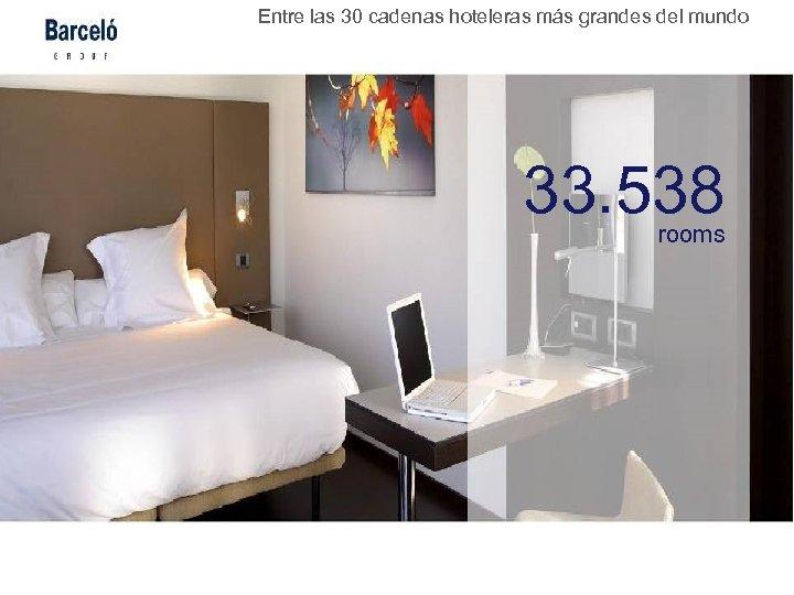 Entre las 30 cadenas hoteleras más grandes del mundo 33. 538 rooms