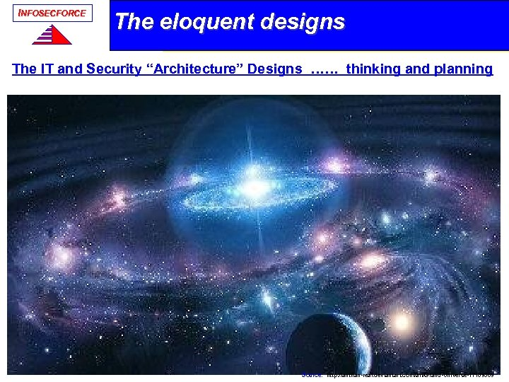 "INFOSECFORCE The eloquent designs The IT and Security ""Architecture"" Designs …… thinking and planning"