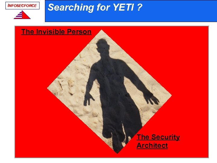 INFOSECFORCE Searching for YETI ? The Invisible Person The Security Architect