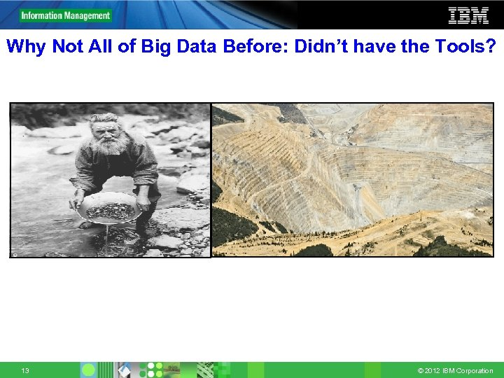 Why Not All of Big Data Before: Didn't have the Tools? 13 © 2012