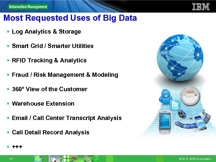 Most Requested Uses of Big Data § Log Analytics & Storage § Smart Grid