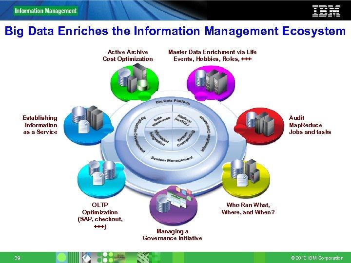 Big Data Enriches the Information Management Ecosystem Active Archive Cost Optimization Master Data Enrichment