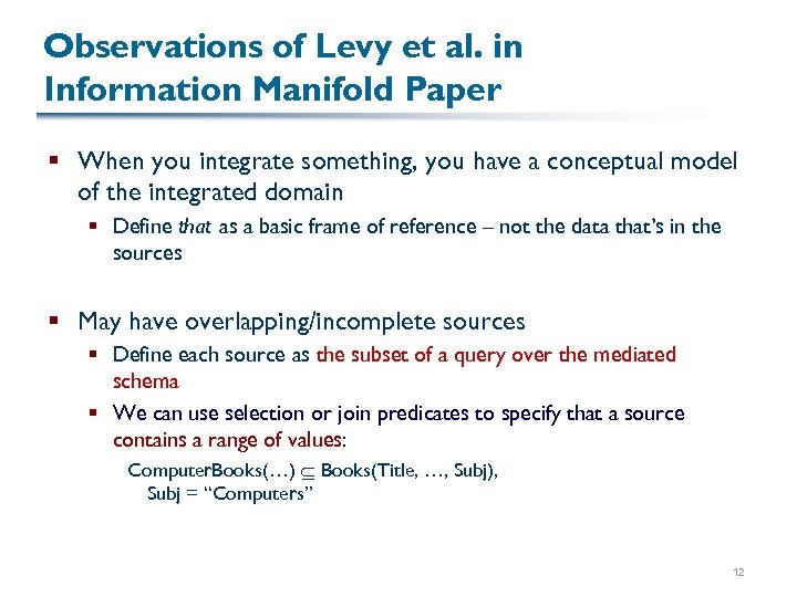 Observations of Levy et al. in Information Manifold Paper § When you integrate something,
