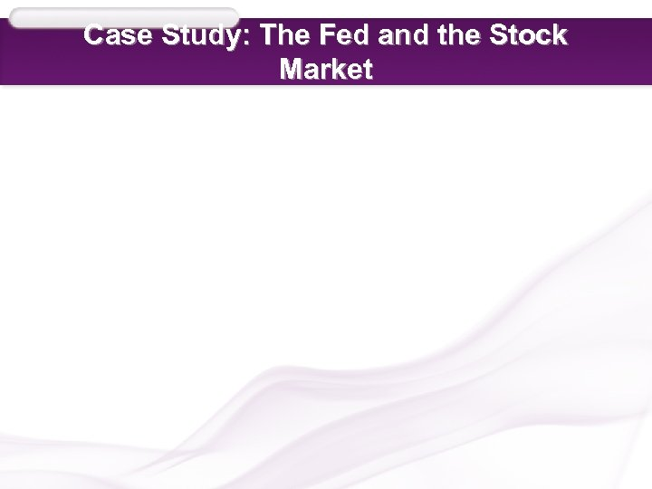 Case Study: The Fed and the Stock Market