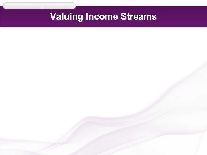 Valuing Income Streams