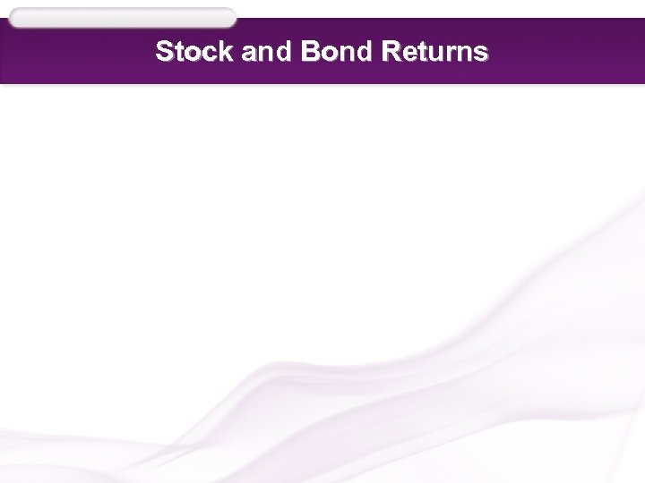 Stock and Bond Returns