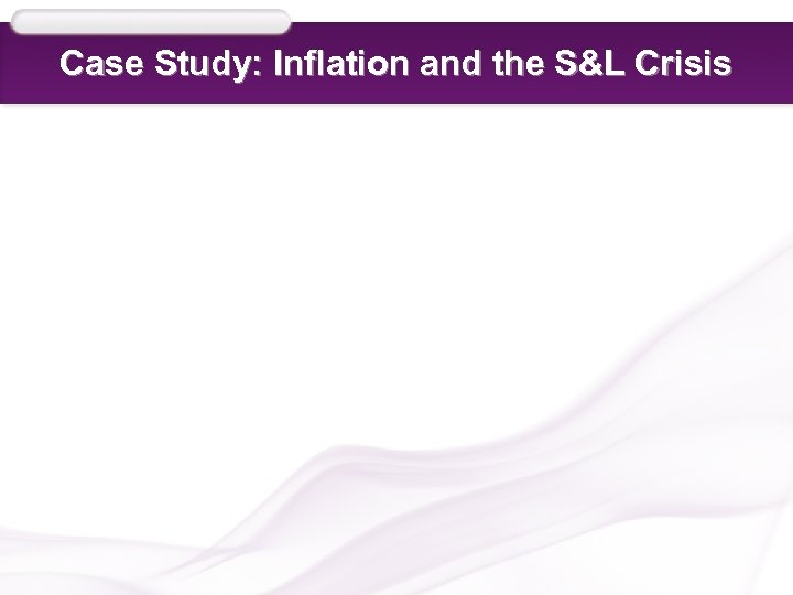 Case Study: Inflation and the S&L Crisis