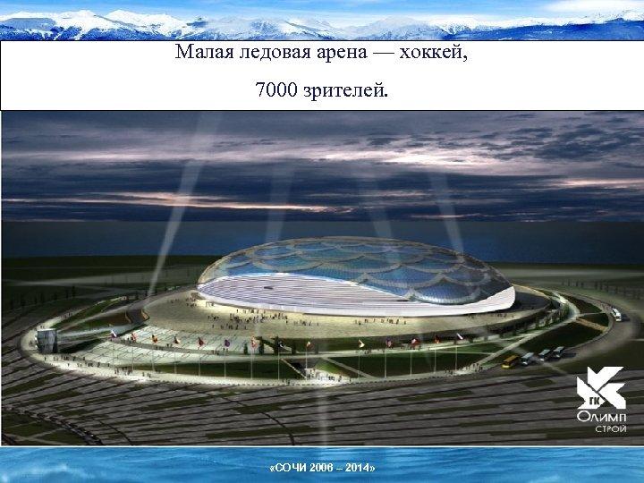 Малая ледовая арена — хоккей, 7000 зрителей. «СОЧИ 2006 – 2014»