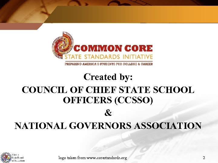 Created by: COUNCIL OF CHIEF STATE SCHOOL OFFICERS (CCSSO) & NATIONAL GOVERNORS ASSOCIATION logo