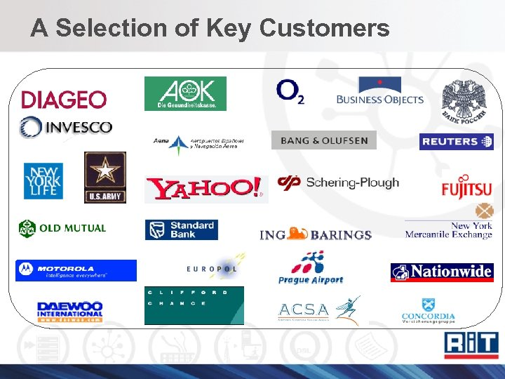 A Selection of Key Customers
