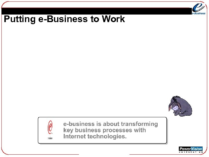 Putting e-Business to Work