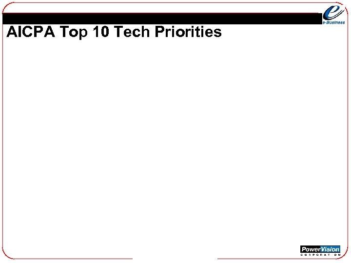 AICPA Top 10 Tech Priorities