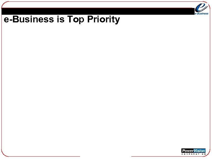 e-Business is Top Priority