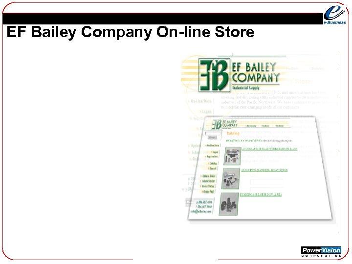 EF Bailey Company On-line Store