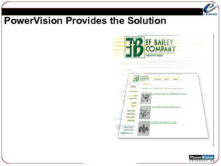 Power. Vision Provides the Solution