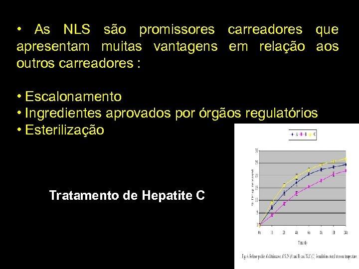 • As NLS são promissores carreadores que apresentam muitas vantagens em relação aos