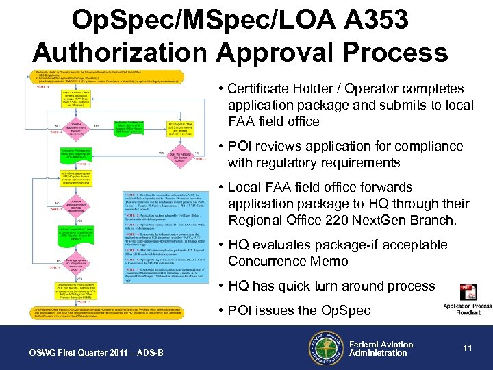 Op. Spec/MSpec/LOA A 353 Authorization Approval Process • Certificate Holder / Operator completes application