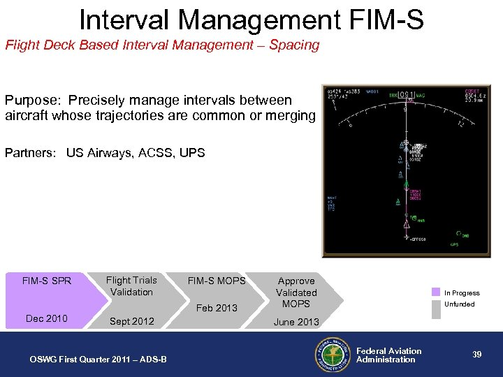 Interval Management FIM-S Flight Deck Based Interval Management – Spacing Purpose: Precisely manage intervals